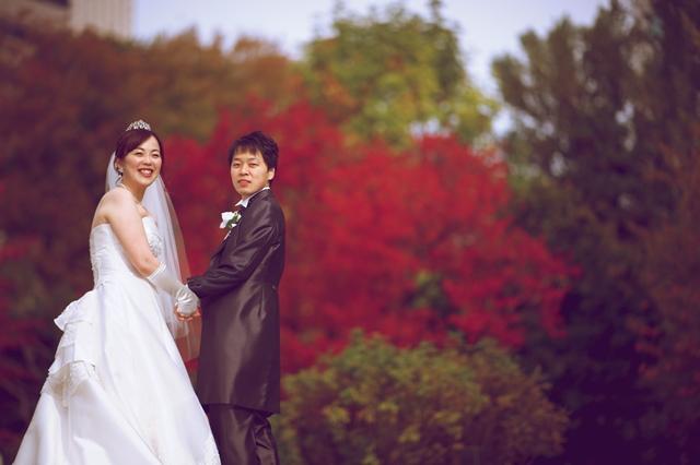 紅葉結婚写真 札幌