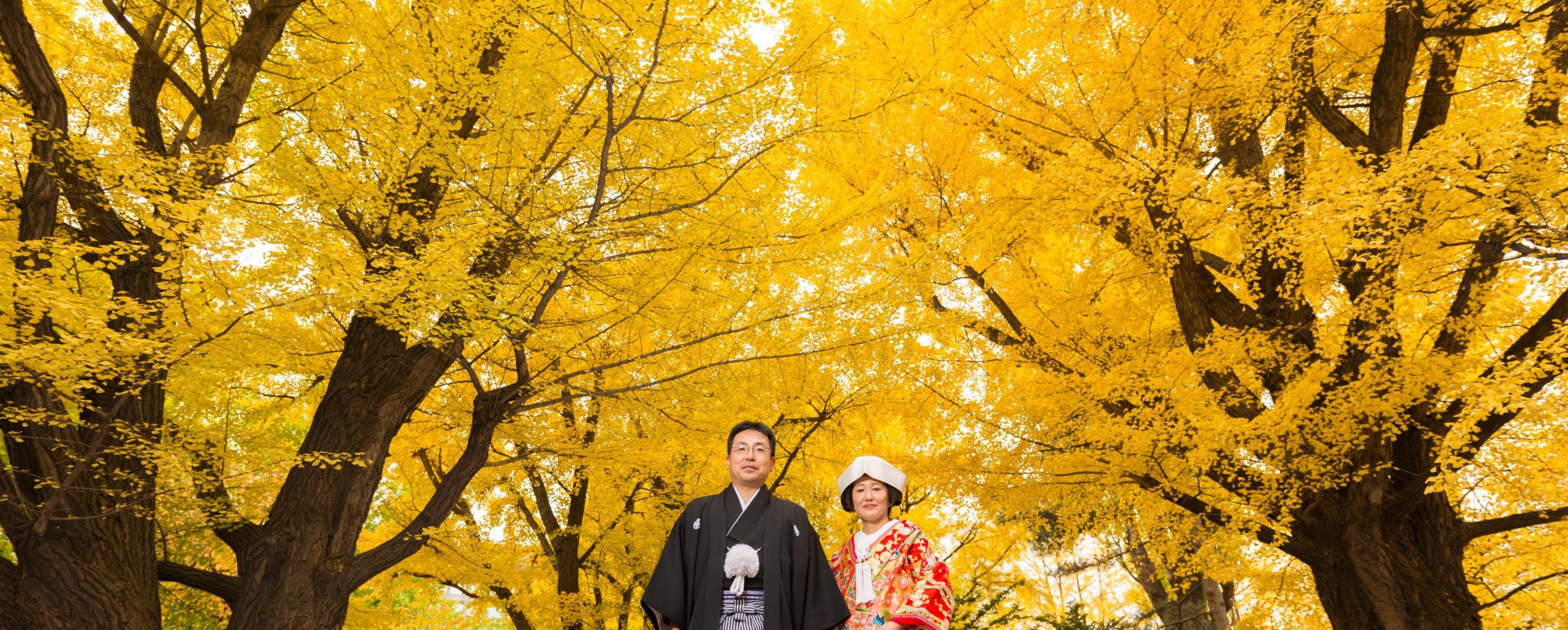 紅葉結婚写真